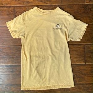 Simply Southern Short Sleeve Yellow Shirt Size S